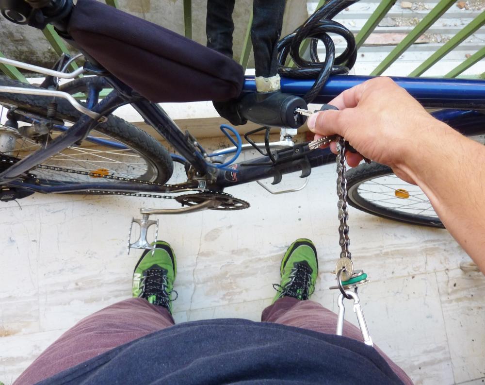 Unlocking the bike lock